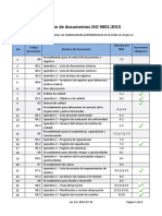 Lista de Documentos ISO 9001