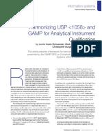 Harmonizing USP 1058 GAMP Pharmaceutical Engineering