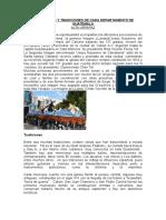 Costumbres y Tradiciones de Cada Departamento de Guatemala