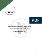 Anteproyecto Ley de Salud Mental 2015