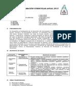Programacion Anual 2015 Geometria Primaria 6 y 5