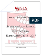 Symbiosis Law School, Pune - Internal Elimination 2016 - 2017 - Rules (1)