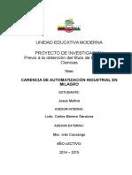 CARENCIA DE AUTOMATIZACIÓN INDUSTRIAL EN MILAGRO.docx