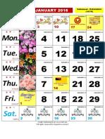 Kalendar Kuda 2016
