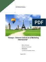 Ensayo Entorno Cultural en El Marketing Internacional. Luis Fernandez