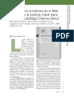 Reseña Sobre El Informe de La OEA. Diego Rodríguez-Pinzón, Pp. 137-139