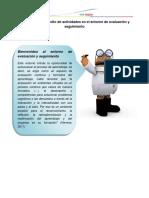 Desarrollo de Actividades en El Entorno de Evaluación
