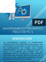 Mantenimiento Preventivo Físico Pc's