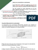 Presentación Ecuacion Diferencial de La Continuidad