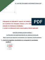 Metodología de Las Relaciones Internacionales___auto Evaluación Unidad 2