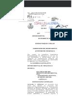 Ley departamental de Chuquisaca N° 281