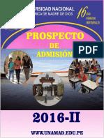 Prospecto 2016 II Unamad