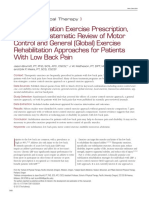 Core Stability Exercise Prescription