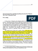 Dramaturgical Text and Historical Record in the New Theatre