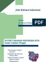 Pengantar Mata Kuliah Bahasa Indonesia