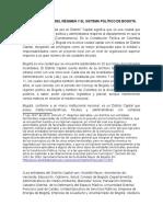 Caracterización Del Régimen y Sistema Político de Bogotá