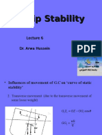 Ship Stability Lecture 6