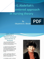 Nursing Theory Patien Centered Approaches to Nurses