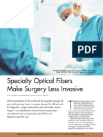 Specialty Optical Fibers Make Surgery Less Invasive