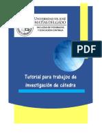 Tutorial Para Trabajos de Investigaci n en c Tedra FPEC