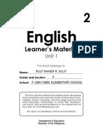 English Unit 1
