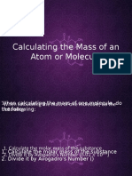 Calculating the Mass of an Atom or Molecule
