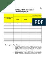 RF 08 Reporting Enrolment Blocker