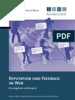 Reputation und Feedback im Web. Einsatzgebiete und Beispiele