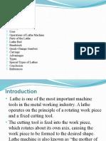 Introduction Lathe Machine Ppt