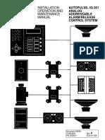 ANSUL AUTOPULSE IQ-301 Analog Addressable Alarm-Release Control System Installation, Operation and Maintenance Manual PN417680