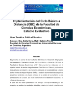 Estudio Evaluativo CicloBasico a Distancia. Ciencias Economicas