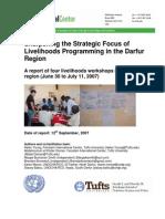 Sharpening the Strategic Focus of Livelihoods Programming in the Darfur Region
