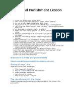 Crime and Punishment Lesson Plan