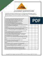 Time Management Questionnaire