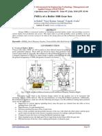 DFMEA of a Roller Mill Gear box