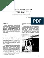 Fisiologia y Fisiopatologia de La Regulacion Termica en El Nino