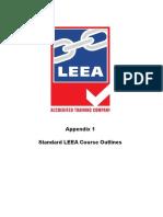 LEEA-039a Accreditation Scheme Appendix 1