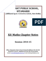 Doc 123 B.P.S. XII Maths Chapter Notes 2014 15
