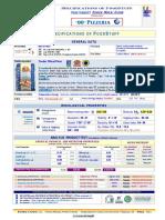 "Caputo ""00″ Pizzeria Specification Sheet"