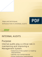 Introduction to Internal Audits