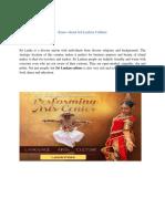 Know about Sri Lankan Culture