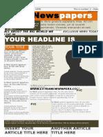 Word Newspaper Template 3 .Doc
