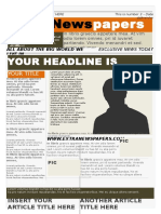 Word Newspaper Template 3 .Doc