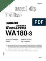 Manual de Taller Cargador Frontal - WA180-3 _ Komatsu