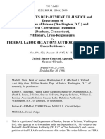 United States Department of Justice and Department of Justice Bureau of Prisons (Washington, d.c.) and Federal Correctional Institution (Danbury, Connecticut) v. Federal Labor Relations Authority, 792 F.2d 25, 2d Cir. (1986)