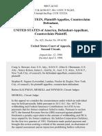 Arnold Hochstein, Counterclaim v. United States of America, Counterclaim, 900 F.2d 543, 2d Cir. (1990)