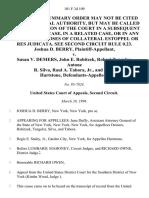 Joshua D. Berry v. Susan v. Demers, John E. Robitzek, Robert Tengeler, Antone R. Silva, Raul A. Tabora, Jr., and Holly Hartstone, 101 F.3d 109, 2d Cir. (1996)