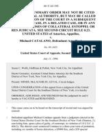 United States v. Michael Catalano, 101 F.3d 1392, 2d Cir. (1996)