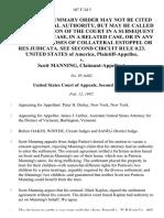 United States v. Scott Manning, Claimant-Appellant, 107 F.3d 5, 2d Cir. (1997)