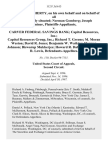 Robert L. Dougherty, on His Own Behalf and on Behalf of All Those Similarly Situated Norman Gomberg Joseph Uminer v. Carver Federal Savings Bank Capital Resources, Inc. Capital Resources Group, Inc. Richard T. Greene M. Moran Weston David R. Jones Benjamin W. Watkins Herman Johnson Biswarup Mukherjee Howard R. Dabney Margaret R. Lewis, 112 F.3d 613, 2d Cir. (1997)